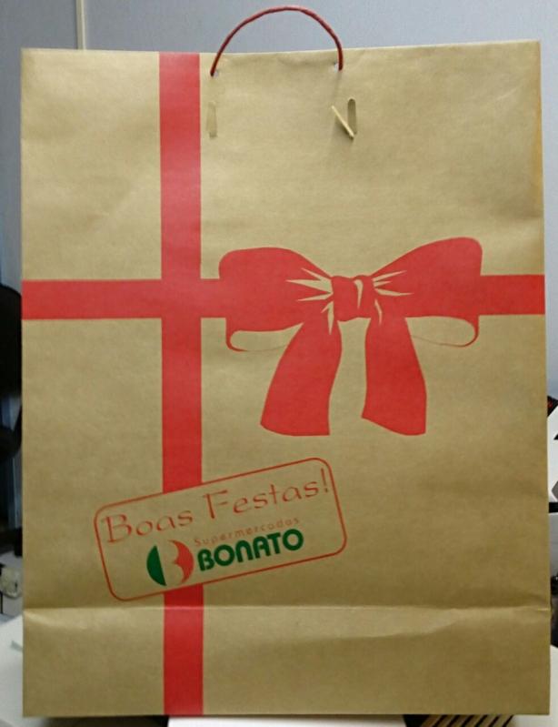Comprar Sacola Papel Personalizada Aniversário Goiânia - Sacola de Papel Kraft Personalizada