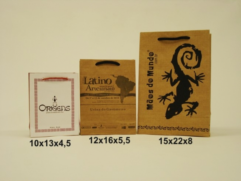 Embalagem de Papel Personalizada Rio Grande - Embalagem Sacola Personalizada