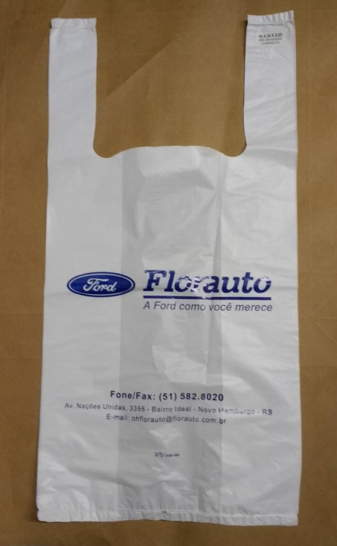 Qual o Valor Sacola Plástica Branca Personalizada Bento Gonçalves - Sacola de Plástico Personalizada