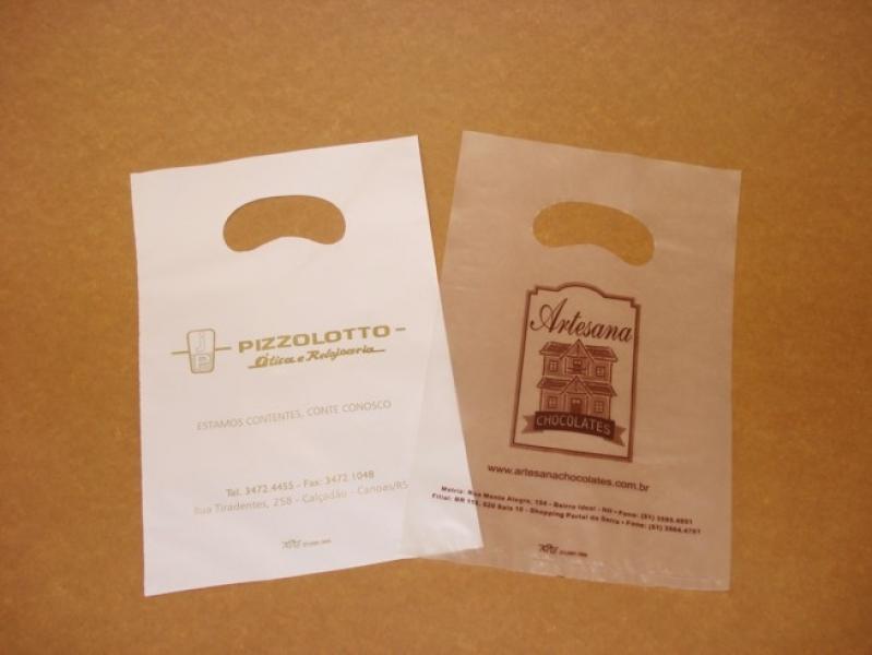 Sacola de Plástico Personalizada Alça Boca Triste Vitória - Sacola Plástica Personalizada Bijuterias