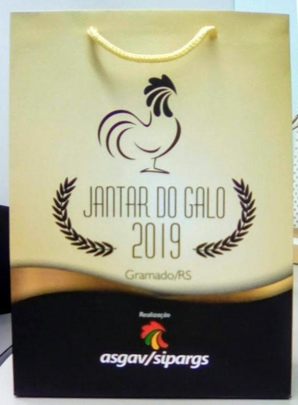 Sacola Papel Personalizada Aniversário Valor BARRA DO RIBEIRO - Sacola de Papel Personalizada com Logo