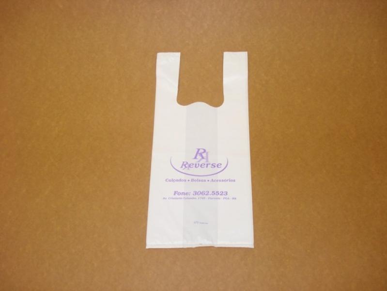 Sacola Plástica Branca Personalizada Rio de Janeiro - Sacola de Plástico Personalizada Alça Vazado