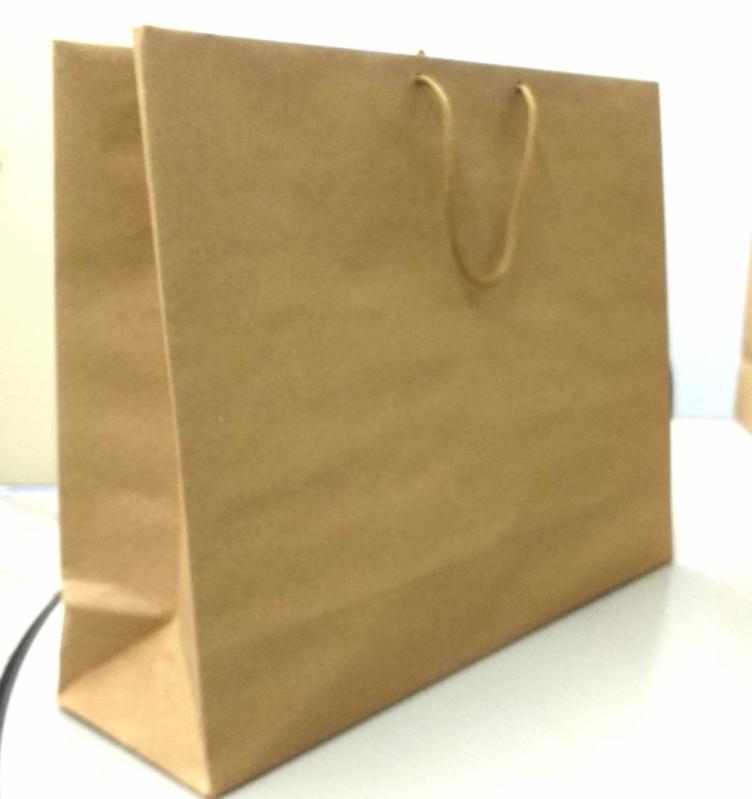 Sacolas de Papel Lisa Parda ROLANTE - Sacola de Papel Lisa para Comércio