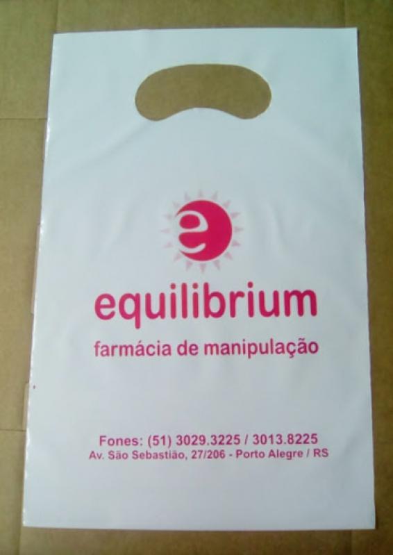 Sacolas de Plástico Personalizada Alça Boca Triste Porto Alegre - Sacola Plástica Personalizada Bijuterias