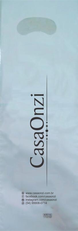 Sacolas Plástica Branca Personalizada NOVA SANTA RITA - Sacola de Plástico Personalizada Alça Vazado