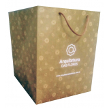 comprar sacola de papel personalizada para loja TRES COROAS