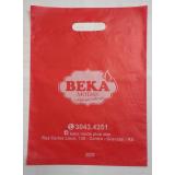qual o valor sacola de plástico personalizada para loja TRES COROAS