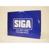 sacola de papel personalizada com logo valor Gravataí