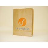 sacola de papel personalizada com logo Uruguaiana