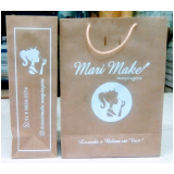 sacola de papel personalizada para loja valor Mato Grosso