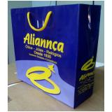 sacola de papel personalizada para loja Viamão