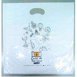 sacola de plástico personalizada alça boca triste valores Igrejinha