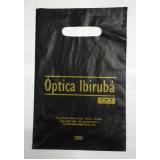 sacola de plástico personalizada alça vazado Taquara