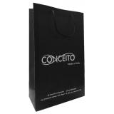 sacola papel personalizada loja Eldorado do Sul