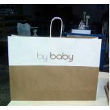 sacola personalizada de papel para loja valor DOIS IRMÃOS