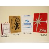 sacola personalizada papel casamento pelotas