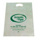 sacola plástica branca personalizada valores Passo Fundo