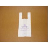 sacola plástica branca personalizada Alvorada