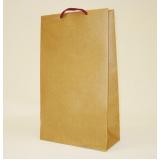 sacolas de papel lisa para vinho pelotas
