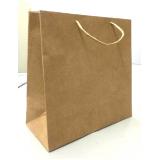 sacola de papel lisa para comércio