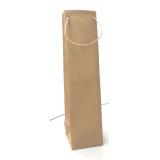 sacola de papel lisa para garrafa