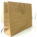 sacola lisa de papel