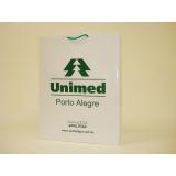 sacola de papel personalizada com logo