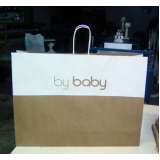 sacola personalizada de papel para loja