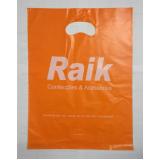 sacola de plástico personalizada alça boca triste