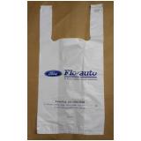 sacola plástica branca personalizada