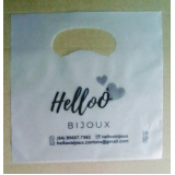 sacola plástica personalizada bijuterias