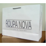 sacolas papel personalizada para loja Viamão