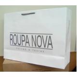 sacolas papel personalizada para loja Igrejinha