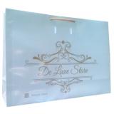 sacolas personalizada de papel para loja Santa Maria