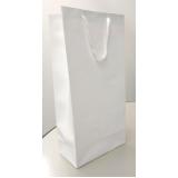valor de sacola de papel lisa para garrafa Santa Catarina